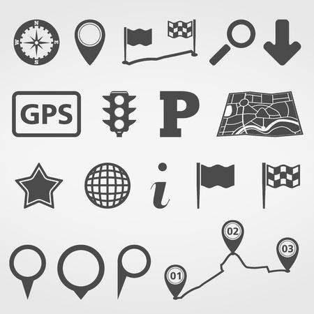 Set of navigation design elements