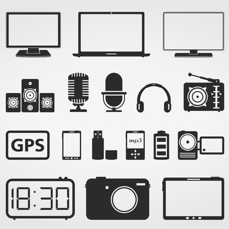 Electronics Icons Stock Vector - 21011953