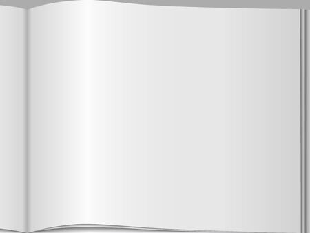 Close-up of blank page of an open magazine Stock Vector - 21019340