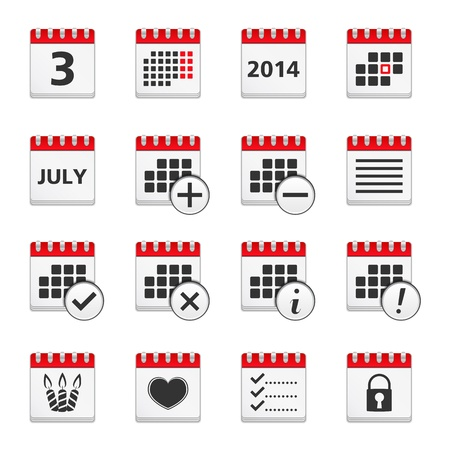 Set of calendar icons Vector