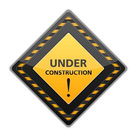 Black under construction sign Illustration
