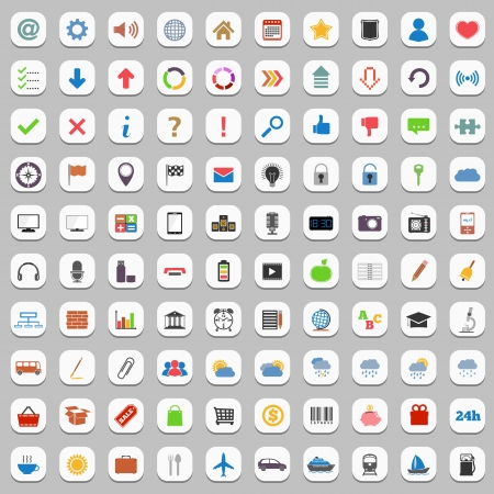 lock up: Collection of flat icons Illustration