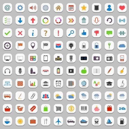 radio telephone: Collection of flat icons Illustration