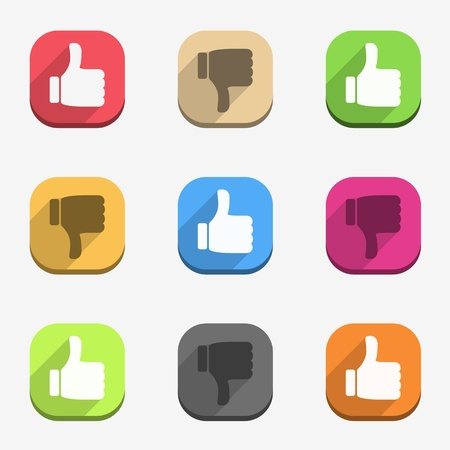 push up: Thumbs up and thumbs down icons