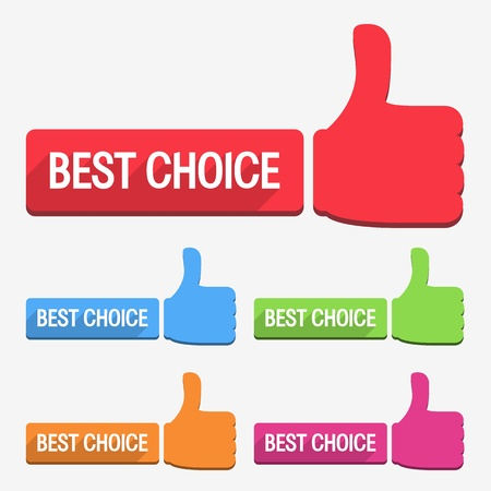 Best choice label, flat design Vector