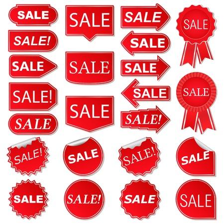 bonus: Set of red sale stickers