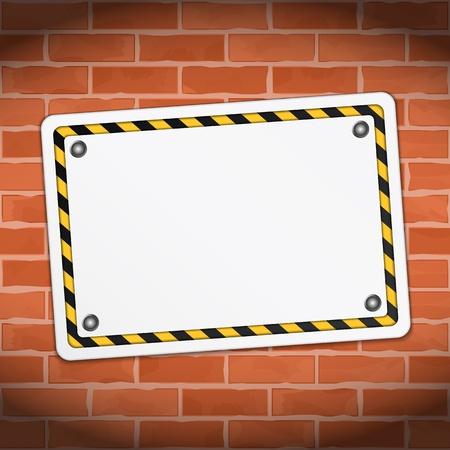 overhaul: Blank banner on brick wall
