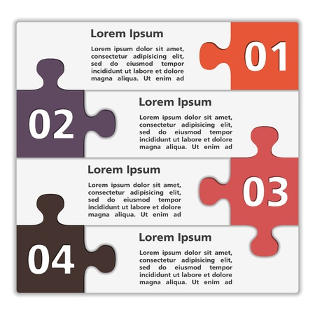 puzzle: Abstract design template with puzzle pieces Illustration