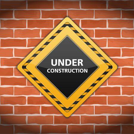 overhaul: In costruzione segno sul muro di mattoni