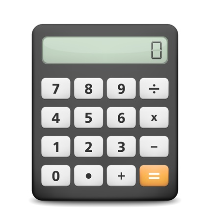 Calculator on white background Vector