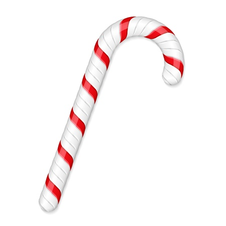 Candy cane isolated on white background Illustration