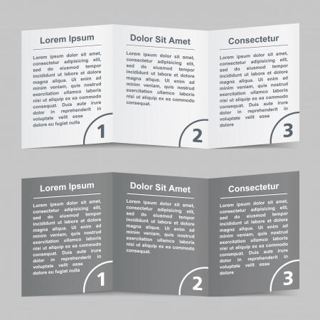 istruzione: Brochure modello con tre pagine Vettoriali