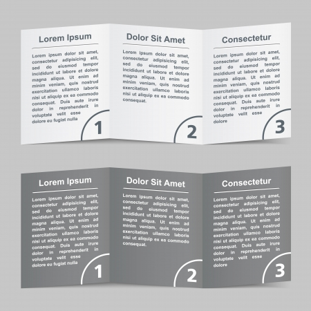 instruction manual: Brochure template with three pages