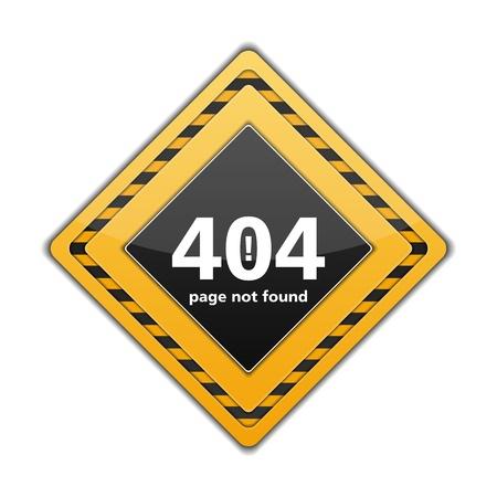 not found: P�gina no encontrada se�al, error 404 Vectores