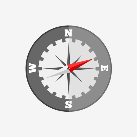 compass rose: Compass flat icon Illustration