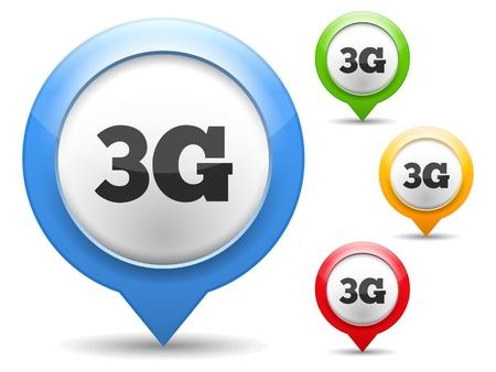3g: 3G icono Vectores