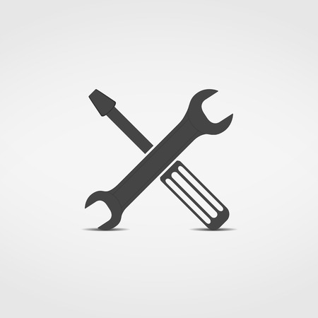 technical support: Screwdriver and wrench icon
