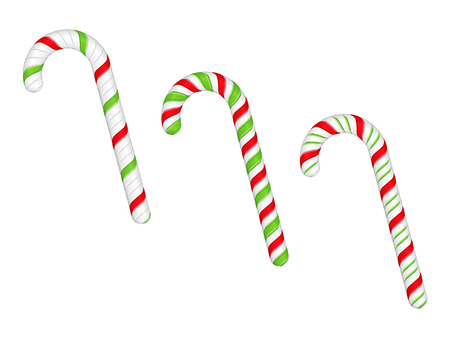 mint candy: Candy canes on white background