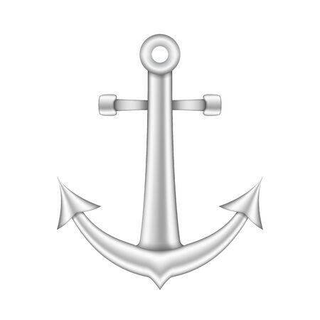 navy pier: Anchor on white background
