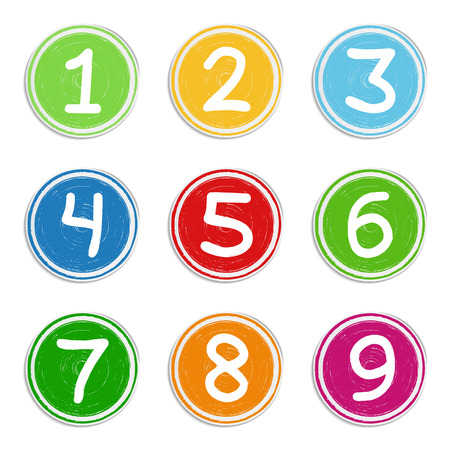 chapter: Set of hand drawn numbers Illustration