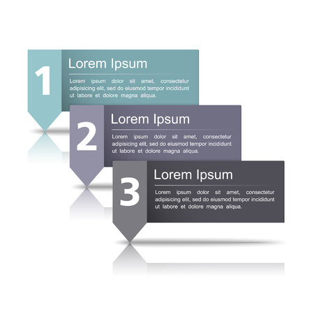 Design template wth three elements Vector
