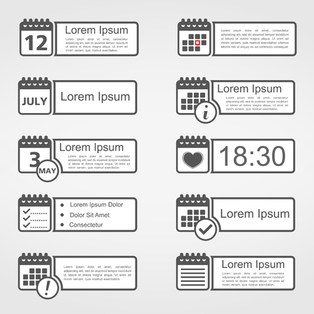 Calendar icons with place for your text Vector