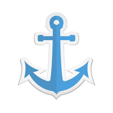 navy pier: Anchor sticker icon.