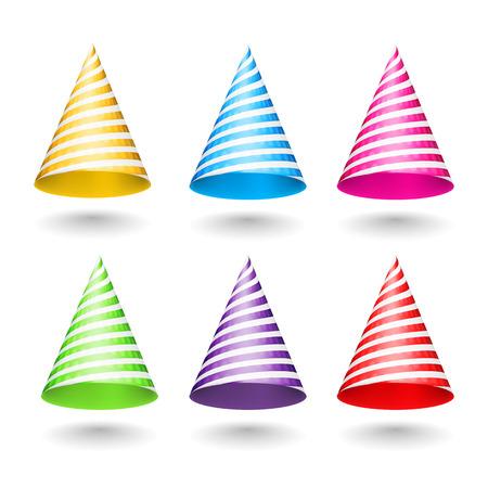 gorros de fiesta: Rayas sombreros de fiesta