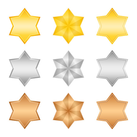 Golden, silver and bronze stars Vector