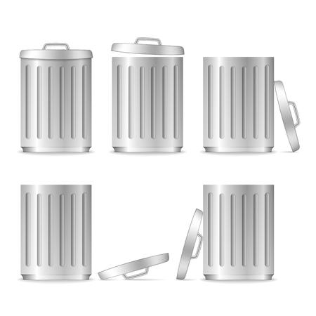 scrapyard: Trash can with lid Illustration