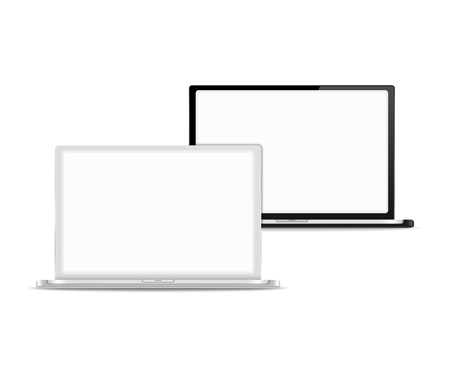 Black and white laptops Vector