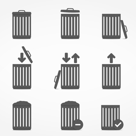 scrapyard: Icons with trash can