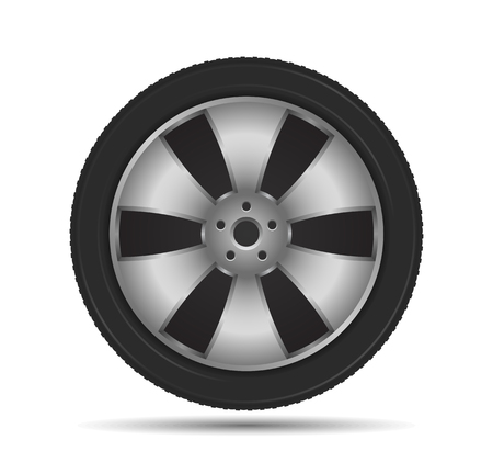 Car Wheel Stock Vector - 23649965