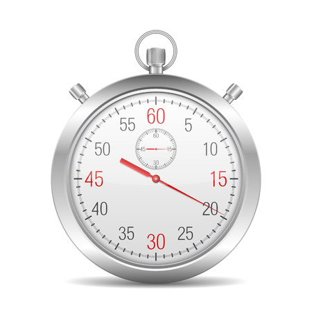 Stopwatch on white background Vector