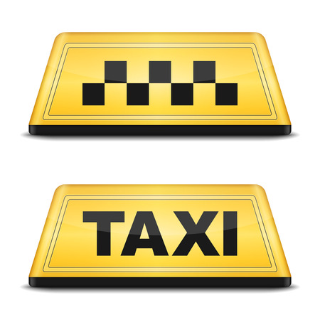 roof light: Taxi sign