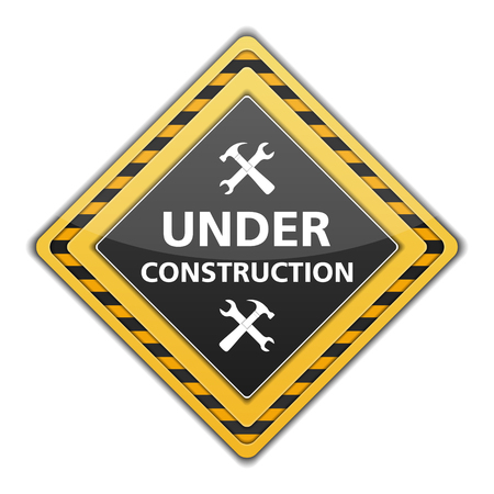 Under construction sign with icon of hammer and wrench Stock Vector - 23884346