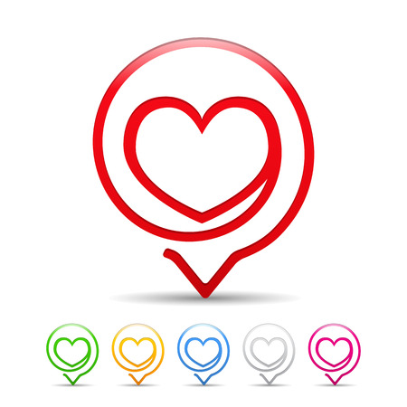 heart outline: Heart icon, six colors