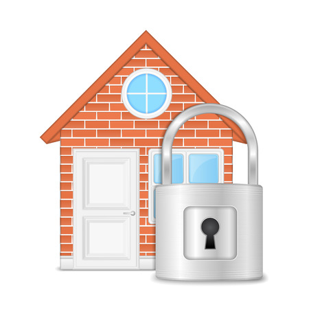 protected: Brick house with lock