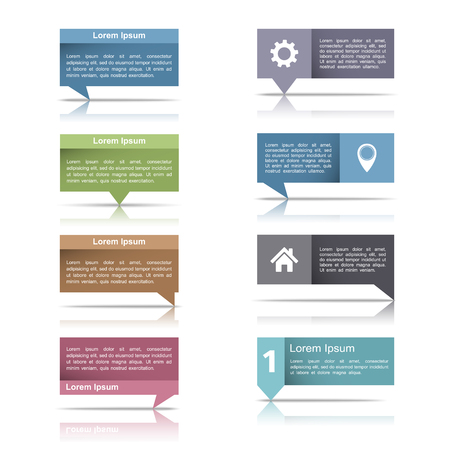 text boxes: Speech bubbles  for your text Illustration
