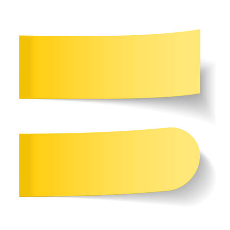 Sticky yellow papers on white background Vector