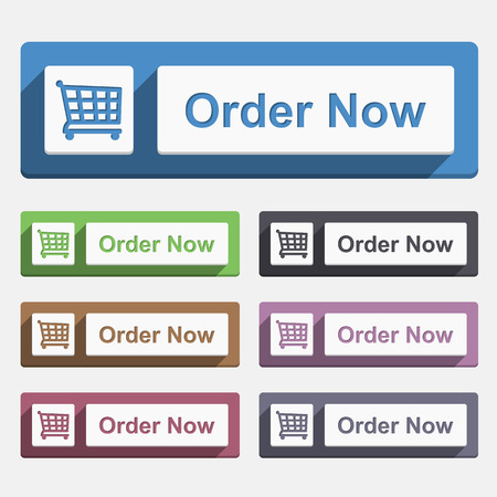 order now: Order now button, flat design