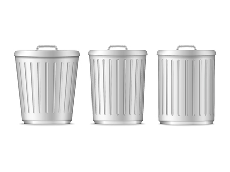 botes de basura: Botes de basura Vectores