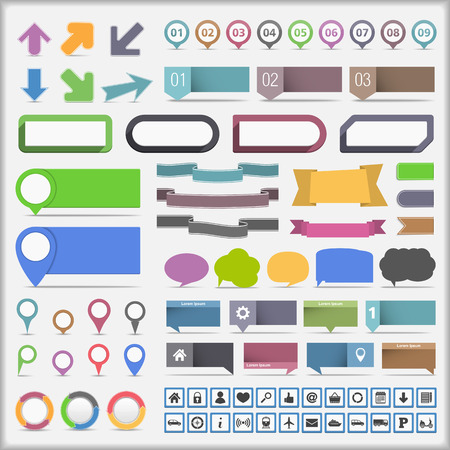 Collection of infographics design elements Illusztráció