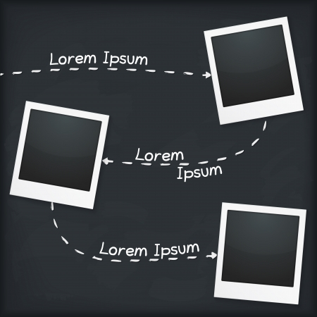 photoalbum: Three photo frames with place for your text