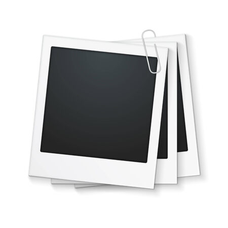 paperclip: Three photo frames with clip