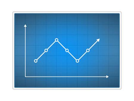 blue arrow: Simple Chart