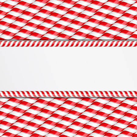 candy cane: Background made of candy canes with place for your text Illustration