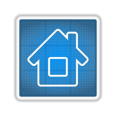 architectural elements: Blueprint House Icon
