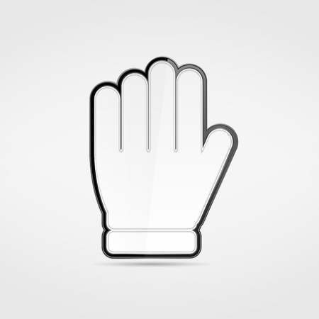 gesticulation: Icon of a hand, stop sign Illustration