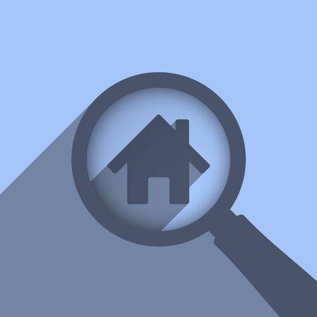 housing search: Cerca casa concetto, vector eps10